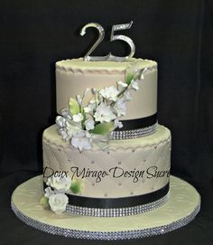 ... de mariage 25 wedding anniversary cake more 25e anniversaire de