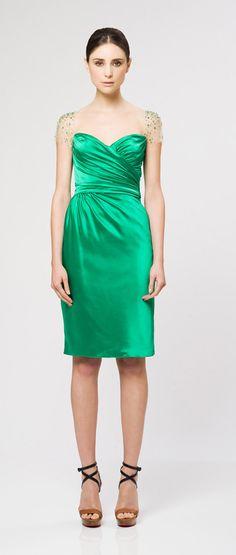 Vestido verde esmeralda / Reem Acra