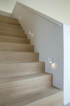 Light for Stairways - Turn on the top LED to light the upper edge of each step or the bottom one to impart a soft glow on each step. These lights enhance the beauty of your stairways. Staircase Lighting Ideas, Stairway Lighting, Modern Staircase, Staircase Design, Staircase Landing, Hall Lighting, Entryway Lighting, Lighting Stores, Modern Entryway