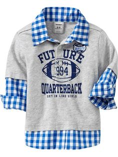 "Old Navy | 2-in-1 ""Future Quarterback"" Shirts for Baby"