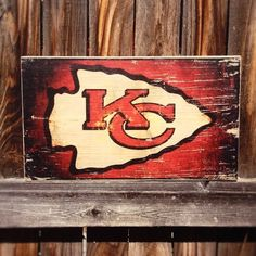 Support your team and deck out your man cave with this weathered wooden sign! Item measures 9 x 16 x 1.5, and is sanded, stained, and sealed