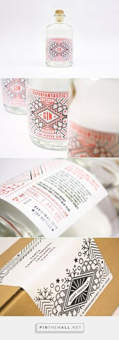 Superfantastic Pink Pepper / Packaging / Packaging Design / Label Design / Gin / Bottle / Drinks / Liquor / Christmas Motifs / Mandala / Creative / Di… – New Year Celebrations – Christmas Coperate Design, Food Design, Layout Design, Graphic Design, Creative Design, Bottle Packaging, Bottle Labels, Brand Packaging, Design Packaging