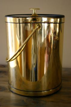 Vintage Gold Ice Bucket. $32.00, via Etsy.