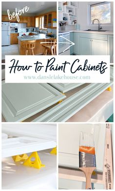 Want to learn how to paint cabinets? I've painted LOTS of cabinets and I'm sharing all of my tips and which paint is the best for painting cabinets. Find a link in the post to how to paint cabinets with a sprayer and how to paint cabinets with a brush. The trick for getting a brush stroke free surfaced painting cabinets. How to paint kitchen cabinets so they hold up to wear and tear. And my tricks for making painting cabinets EASIER. #kitchencabinets #paintingcabinets #paintingtips Diy Furniture Making, Furniture Ideas, Gel Stain Furniture, Cabinet Trim, Paint Brands, Painting Kitchen Cabinets, Home Projects, Craft Projects, Decorating Blogs