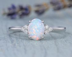 HANDMADE RINGS & BRIDAL SETS by MoissaniteRings on Etsy Cheap Engagement Rings, Classic Engagement Rings, Diamond Cluster Ring, Diamond Bands, Unique Wedding Bands, Bridal Ring Sets, Handmade Rings, Natural Opal, Opal Rings