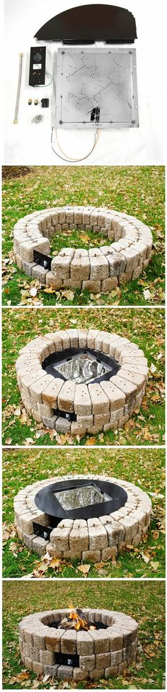 DIY Gas Fire Pit Kit from The Outdoor GreatRoom Company