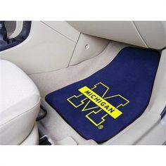 Michigan Wolverines Logo 2-Piece Carpet Car Mats Set