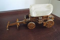 Folk Art Model Of Covered Wagon - Lamp Very Unusual