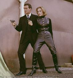 Patrick Macnee starred as the devilishly urbane spy John Steed in The Avengers, pictured here with co-star Honor Blackman