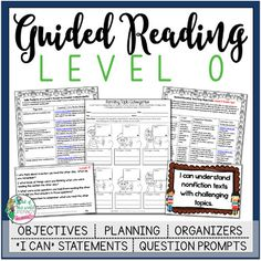 This guided reading resource is full of everything you need to plan, instruct, and assess students in a level O guided reading group. The level O scale is based on Fountas and Pinnell.
