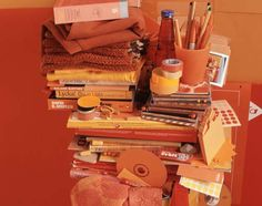 Helga Steppan, 'All my things, /orange/' from the series 'See Through', 2004 by Man, via Flickr