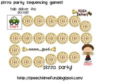 Speech Time Fun: Pizza Party Sequencing Games