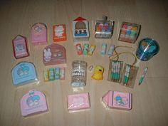 Vintage Sanrio Cased Erasers by lauper♥ann ///*c*\\\, via Flickr