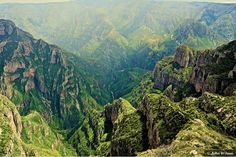 One of the six rivers that make up the Copper Canyon in Mexico