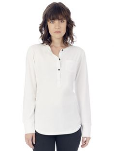 35.00 - Greeting, this super soft ladies long sleeve alternative Donna organic Pima cotton Henley crafted with Peruvian organic cotton to give you comfort and style, , ebuybit.com
