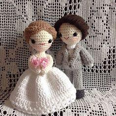 #crochet#amigurumi#wedding#웨딩인형 #코바늘인형 Wedding Doll, Crochet Wedding, Crochet Hats, Teddy Bear, Dolls, Crafts, Handmade, Instagram, Grooms
