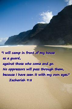 Zachariah 9:8