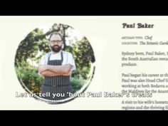 Paul is no ordinary Baker . he's a chef with a Beast Master title for his dedication to utilising the Whole Beast. Bakers Treat, Beast, Told You So, Let It Be