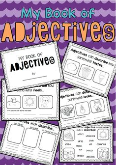 My book of Adjectives Mini Book. Grammar and parts of speech practise!