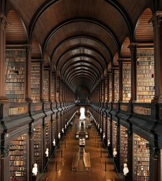 Trinity College Library; Yes, it's Ireland, BUT LOOK AT ALL THOSE BOOKS!!! And there are 12 others just as amazing :)