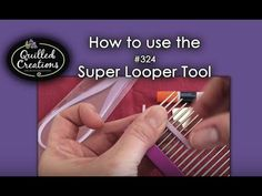 Create unique looped pieces to compliment your quilling. The Super Looper has two sets of different sized prongs to loop and weave leaves, waves, wings and m...
