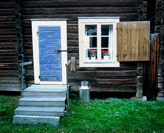 century house in Skelleftea, Sweden Scandinavian Countries, Lappland, Swedish House, Scandinavian Living, Shipping Container Homes, Red Riding Hood, Tiny Homes, 17th Century, Cottage Style