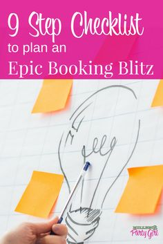 Need help motivating your Direct Sales team to book more parties? Try a booking blitz! My 9 Step Checklist will help you plan out all your booking blitz details and create momentum Direct Sales Party, Direct Sales Tips, Direct Selling, Body Shop At Home, The Body Shop, Event Planning Tips, Party Planning, Mary Kay, Initials Inc