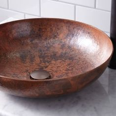 Gracefully handcrafted of hammered copper, the Native Trails CPS Maestro Sonata Bathroom Sink offers a chic accent to your traditional, cottage. Copper Vessel Sinks, Vessel Sink Bathroom, Bathroom Fixtures, Kohler Sink, Copper Tub, Brass Bathroom, Bathroom Cabinets, Bathroom Flooring, Metal Sink