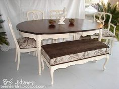 Exceptionnel Idea For Refinishing The Dining Table And Chairs.
