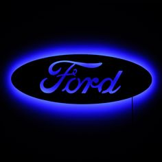 Lighted Ford Logo Sign