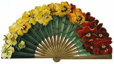 absolutely gorgeous pansy fan