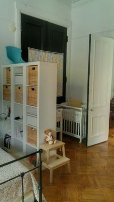 Although my husband and I shared our bedroom with each of our babes for a little over three months, we knew it was a temporary solution, and, as such, no decor changes were made to our adult haven. But what if there is no other nursery waiting for your little bundle of joy? Here are some inspiring ideas for carving out a special space for your baby without making it feel like your room has been taken over by baby safari animals, primary colors, and cutesy prints: