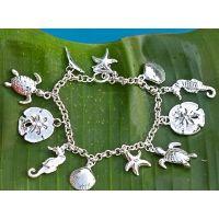 Bracelet: Silver Sea Life Charm Bracelet
