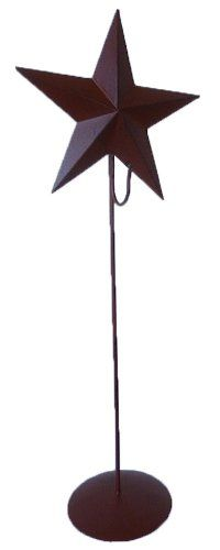 Craft Outlet Rusty Tin Star with Wreath Stand 21Inch *** Want additional info? Click on the image.