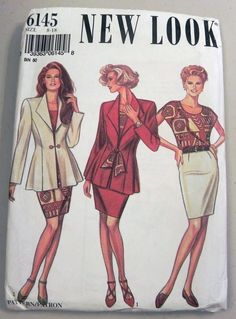 1990s Business Suit Jacket Top and Skirt by retroactivefuture, $8.00