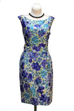 Cabaret Vintage - 1960s Blue Floral Print Dress, $125.00 (http://www.cabaretvintage.com/new-arrivals/1960s-blue-floral-print-dress/)