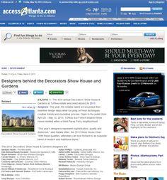 Atlanta Symphony Orchestra Decorators Show House & Gardens | Access Atlanta, March 2013