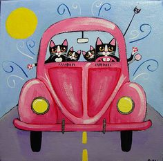 by Ryan Conners Cat and a VW Bug...what more could I want!