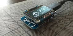 128x64 OLED display directly soldered on a WeMos D1 Mini