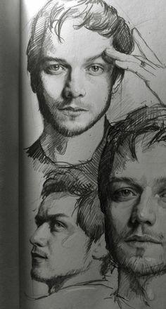 James McAvoy by MaryRiotJane (Charles Xavier, James McAvoy, James Mcavoy, Charles Xavier, Guy Drawing, Drawing Sketches, Art Drawings, Sketching, Arte Sketchbook, Fan Art, Xmen