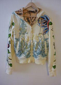 Kupuj mé předměty na #vinted http://www.vinted.cz/damske-obleceni/s-kapuci/9589537-christian-audigier-tattoo-full-zip-hoodie