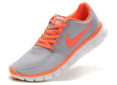 Nike Free 5,0 V4 Damen Schuhe Sale Grau / Orange