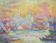 Paul #Signac「La Corne d'Or, Constantinople」(1907)