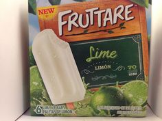 Crazy Food Dude Review: Fruttare Lime Ice Bars