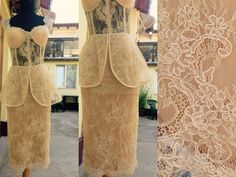 #mademoiselle #atelier #dress #nude #lace #chantilly