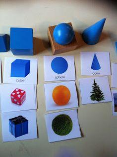 My Montessori Preschool: Unispiring geometric solids? Not anymore!!
