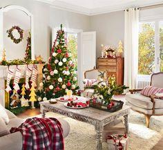 Espreite 24 ideias de salas decoradas e aproveitar este fim de semana para tomar algumas notas de decoração para vestir sua sala de Natal...