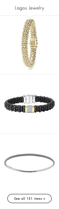 """Lagos Jewelry"" by bleubeauty1 on Polyvore featuring jewelry, bracelets, silver, diamond bangles, 18 karat gold jewelry, pearl jewelry, white bangle, white diamond jewelry, beaded bangles and oval bangle"