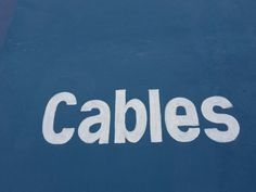 Cables, on a wall in Argentina