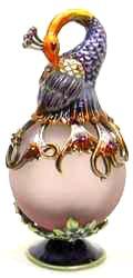 Passiflora Purple Orb Peacock Perfume Bottle